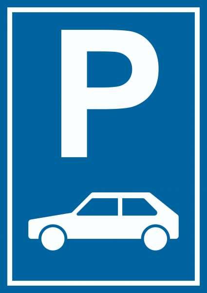 Parkplatz PKW / Auto Schild