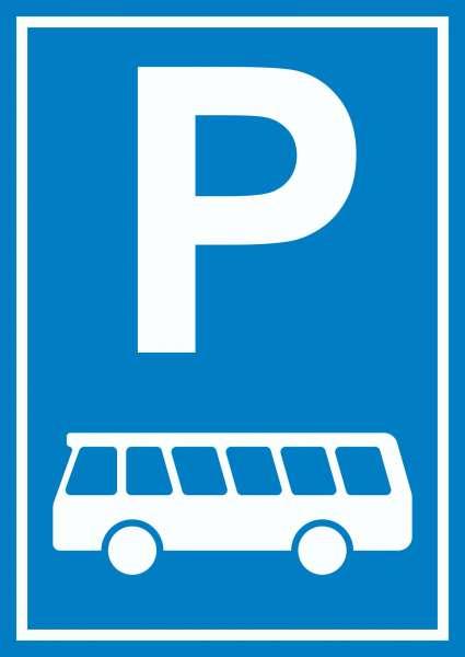 Bus Parkplatz Reisebus Schild