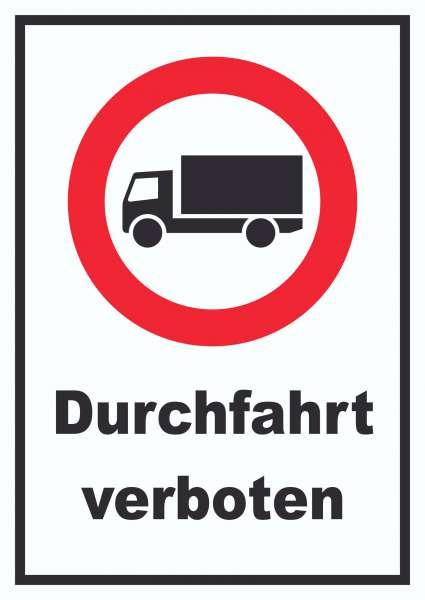 Durchfahrt verboten LKW Symbol Schild