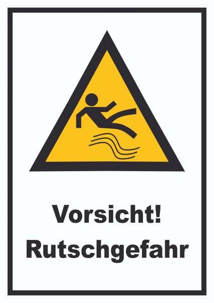 Vorsicht Rutschgefahr Schild