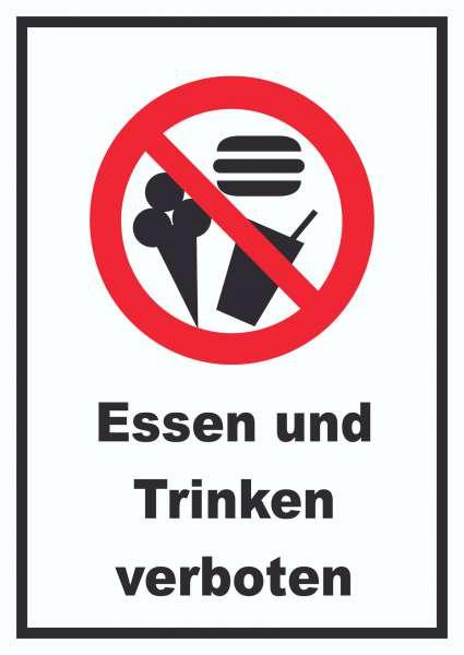 Essen und Trinken verboten Schild