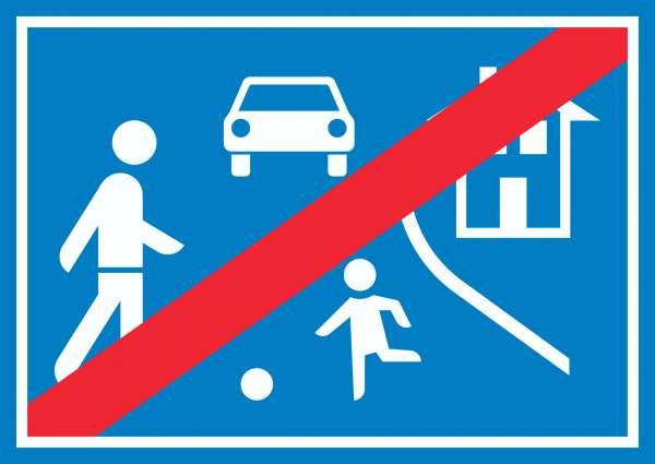 Spielstraße Ende Schild