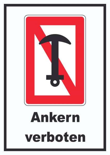 Ankern verboten Schild