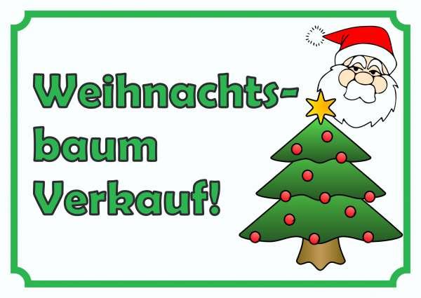 Verkaufsschild Weihnachtsbaum