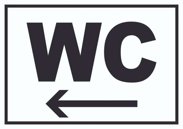 WC links Schild