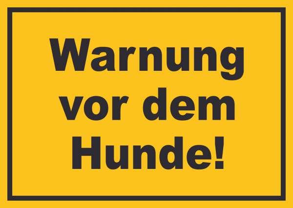 Warnung vor dem Hunde Schild