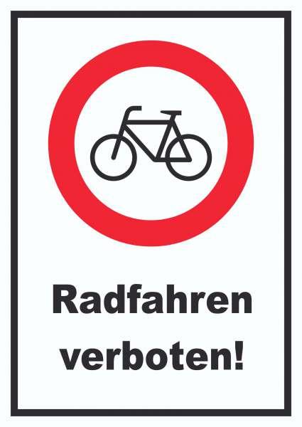 Radfahren verboten Schild