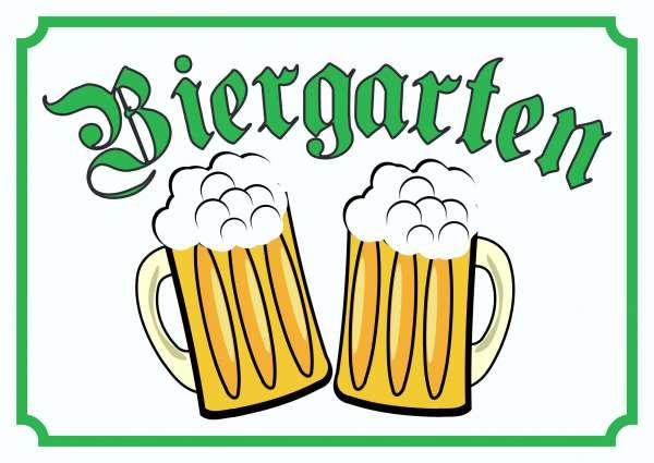 Biergarten Schild