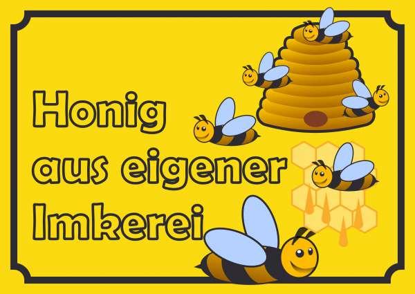 Verkaufsschild Honig