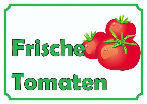 Frische Tomaten Verkaufsschild Schild