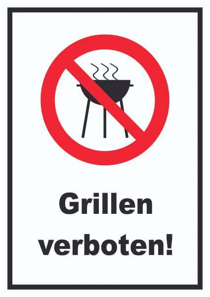 Grillen verboten Schild