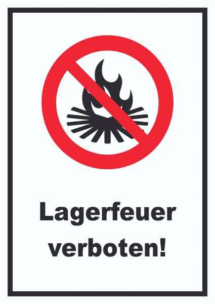 Lagerfeuer verboten Schild