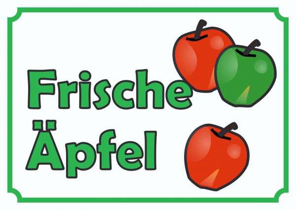 Verkaufsschild Äpfel