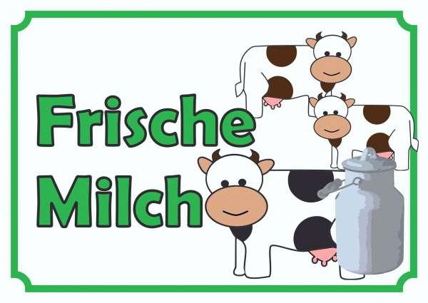 Verkaufsschild Frische Milch
