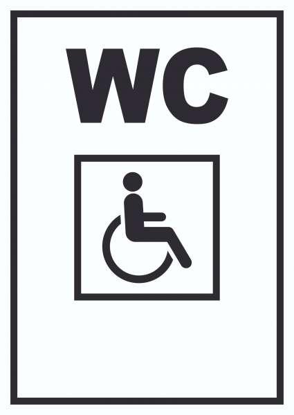 WC Behinderten Schild