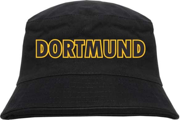 Dortmund Fischerhut Blockschrift schwarz gelb