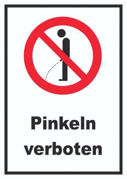 Pinkeln verboten Schild