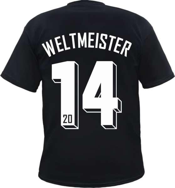 WELTMEISTER 2014 Schwarz Herren T-Shirt