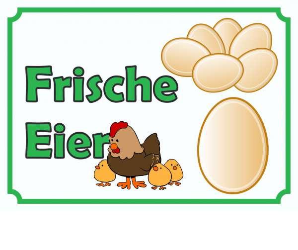 Verkaufsschild Eier