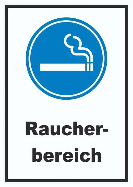Raucherbereich Schild