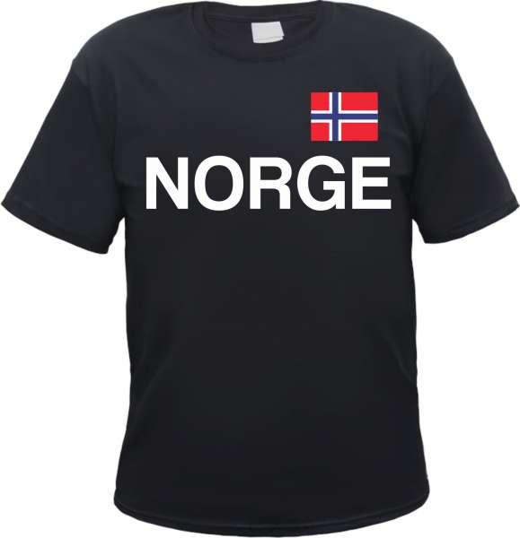 Norwegen Herren T-Shirt mit Norge Schriftzug und Flagge