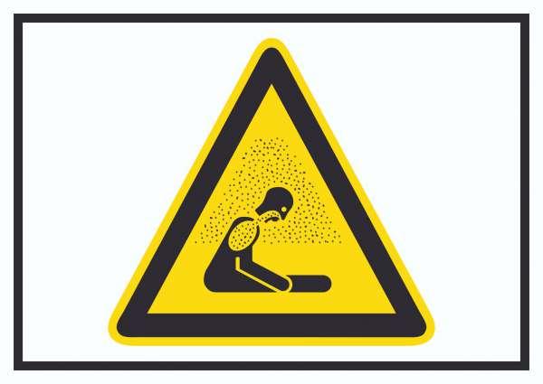 Achtung Erstickungsgefahr Symbol Schild