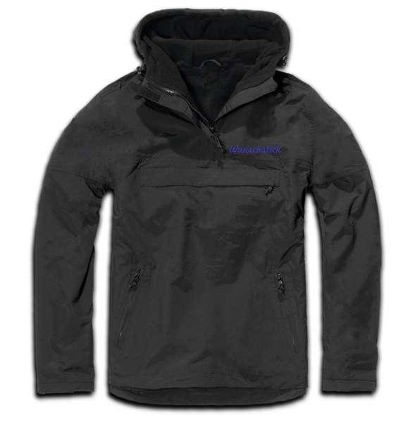 Windbreaker mit Wunschtext - Schreibschrift - bestickt - Winterjacke Jacke Stickfarbe: Blau