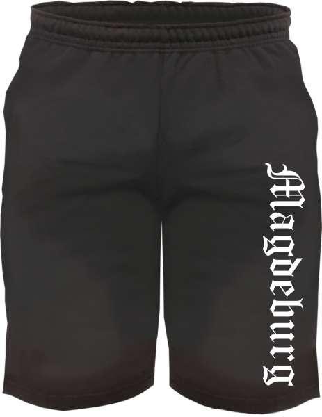 Magdeburg Sweatshorts - Altdeutsch bedruckt - Kurze Hose Shorts