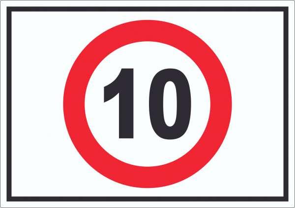 Tempo 10 km/h Geschwindigkeitsbegrenzung Aufkleber Symbol