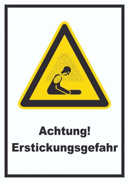 Achtung Erstickungsgefahr Schild