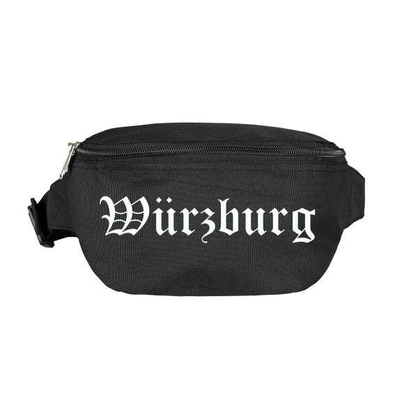 Würzburg Bauchtasche - Altdeutsch bedruckt - Gürteltasche Hipbag