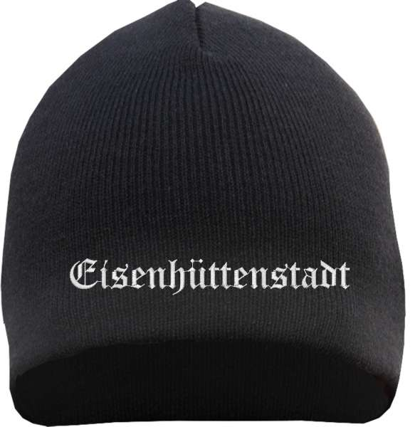 Eisenhüttenstadt Beanie Mütze - Altdeutsch - Bestickt - Strickmütze Wintermütze
