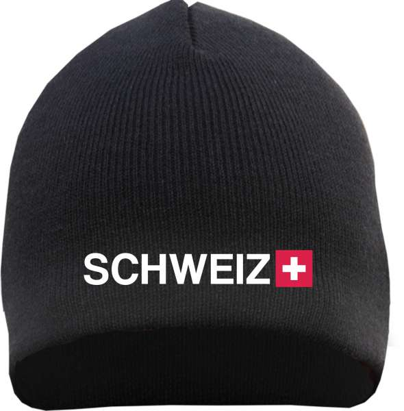Schweiz Beanie - bestickt - Mütze