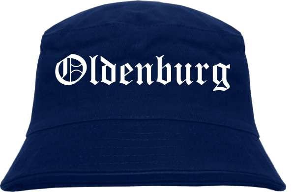Oldenburg Fischerhut - Dunkelblau - Altdeutsch - bedruckt - Bucket Hat Anglerhut Hut