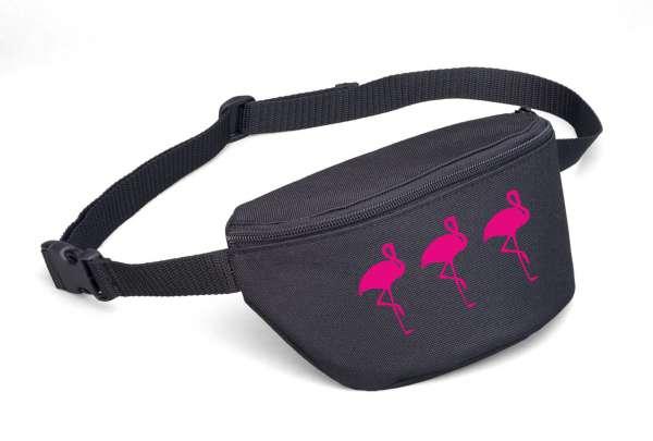 Bauchtasche - Drei Flamingos -