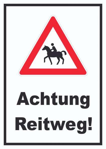 Achtung Reiterweg Schild