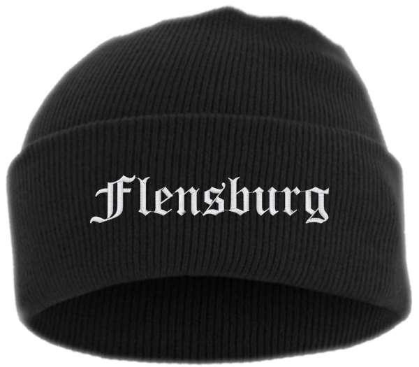 Flensburg Umschlagmütze - Altdeutsch - Bestickt - Mütze mit breitem Umschlag