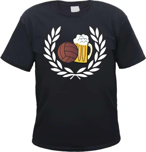 Lorbeerkranz Fussball Bier T-Shirt
