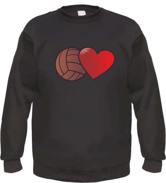 Fussball und Herz Sweatshirt Pullover