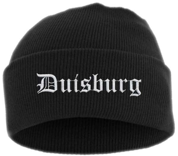 Duisburg Umschlagmütze - Altdeutsch - Bestickt - Mütze mit breitem Umschlag