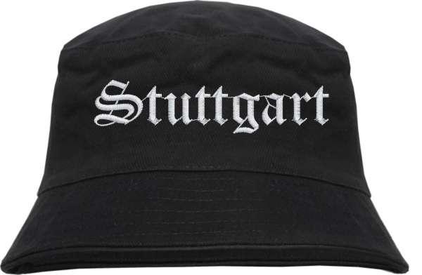 Stuttgart Fischerhut - Altdeutsch - bestickt - Bucket Hat Anglerhut Hut