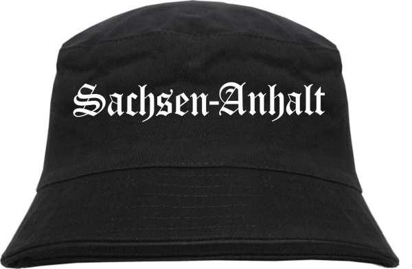 Sachsen-Anhalt Fischerhut - Altdeutsch - bedruckt - Bucket Hat Anglerhut Hut