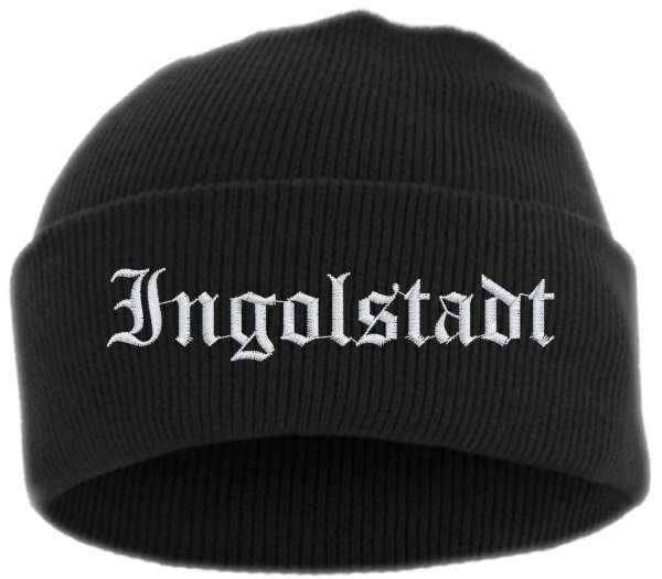 Ingolstadt Umschlagmütze - Altdeutsch - Bestickt - Mütze mit breitem Umschlag