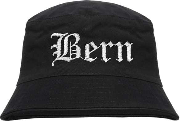 Bern Fischerhut - Altdeutsch - bestickt - Bucket Hat Anglerhut Hut