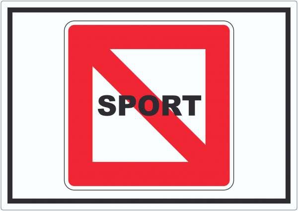 Fahrverbot für Sportboote Symbol Sportfahrzeuge verboten