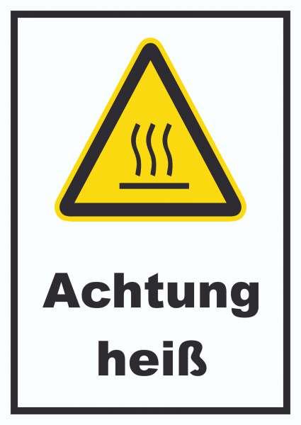 Achtung heiß Schild