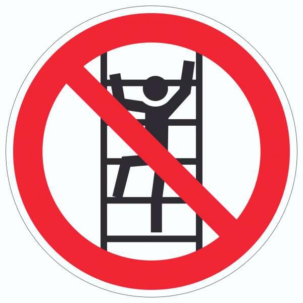 Aufkleber Klettern verboten Symbol Kreis