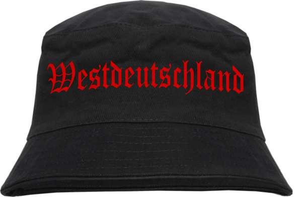Westdeutschland Fischerhut - Druckfarbe Rot - Bucket Hat