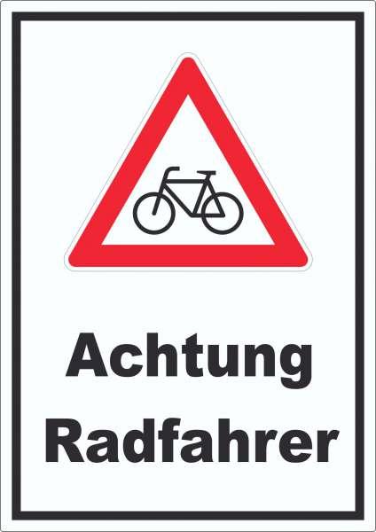 Achtung Radfahrer Fahrräder Aufkleber