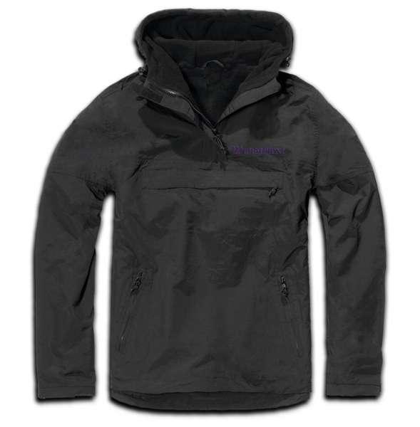 Windbreaker mit Wunschtext - Altdeutsch - bestickt - Winterjacke Jacke Stickfarbe: Lila